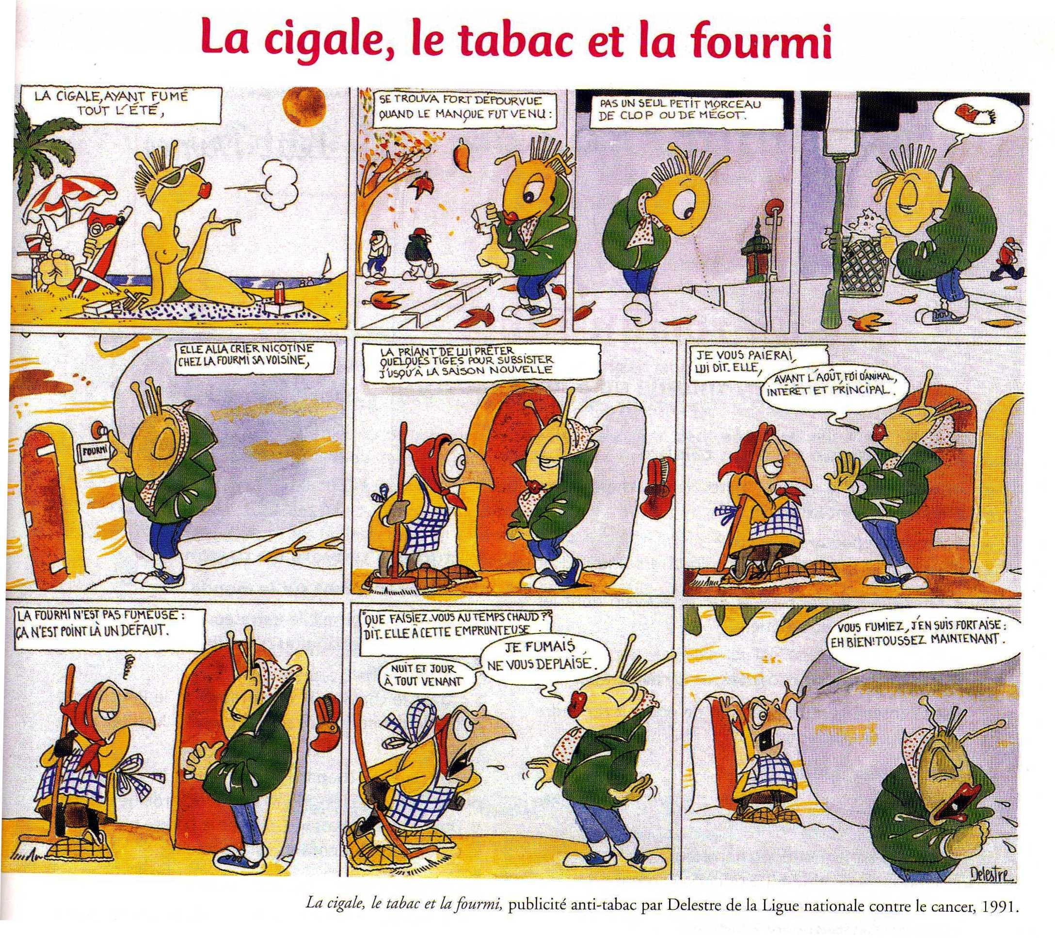 Lettres langues et culture de l antiquit - Illustration la cigale et la fourmi ...